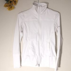 Nike fit dry white zip up jacket